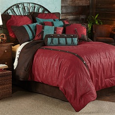 Cheyenne Red Comforter Set