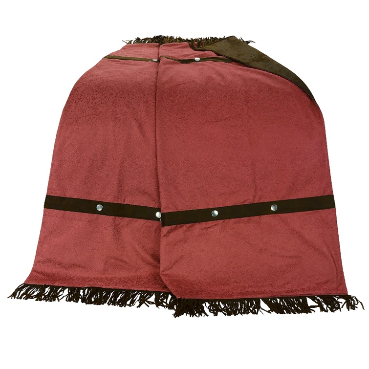 Cheyenne Red Faux Tooled Leather Throw