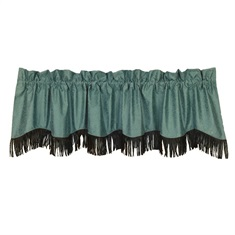 Chyenne Turquoise Faux Tooled Leather Valance