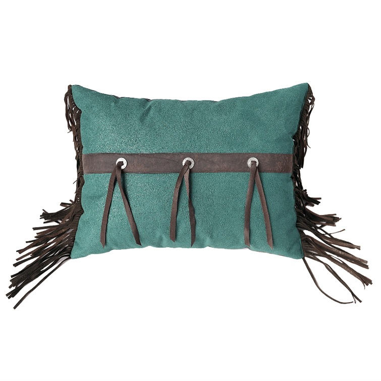 Chyenne Turquoise Rectangle Pillow Conchos