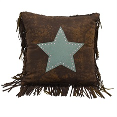 Chyenne Turquoise Tooled Leather Star