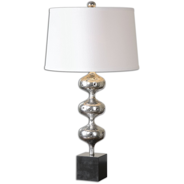 Cloelia Polished Silver Lamp