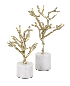 Concepts Eden Trees on Marble Base - Set of 2
