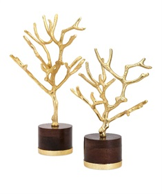 Concepts Eden Trees on Wood Base - Set of 2