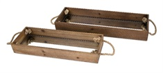 Concepts Eden Wood Decorative Trays - Set of 2