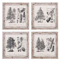 Conifer Wall Decor - Ast 4