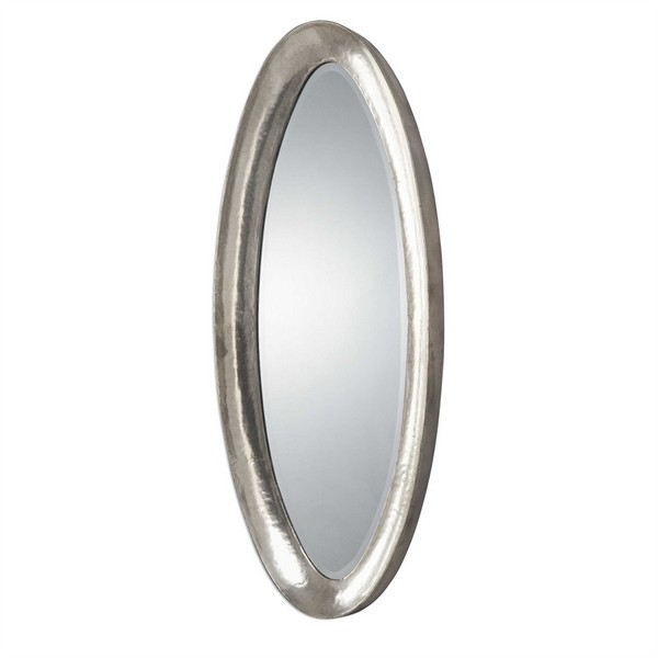 Copparo Silver Oval Mirror