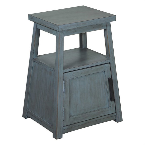 Cora Blue Wash Accent Table