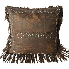 Calhoun Cowboy Studded Pillow