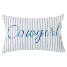 Cowgirl Embroidery Pillow