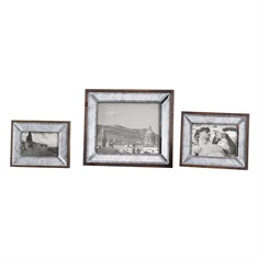 Daria Antique Mirror Photo Frames S/3