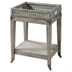 Davaughn Wooden Serving Cart