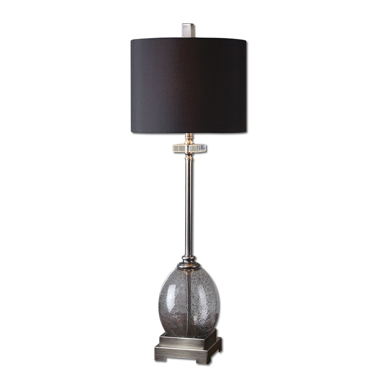Denia Gray Glass Table Lamp