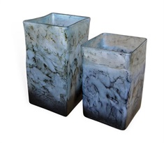 Dove Gray Square Vases Set of 2