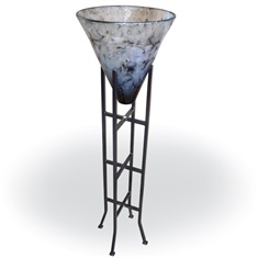 Dove Gray Vase w/ Floor Stand