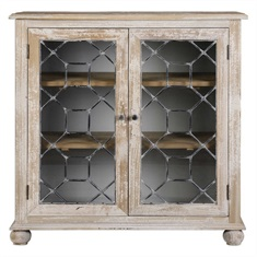 Earline Antique White Accent Cabinet