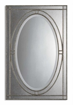 Earnestine Antique Silver Mirror