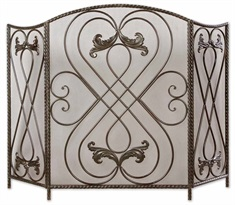 Effie Metal Fireplace Screen