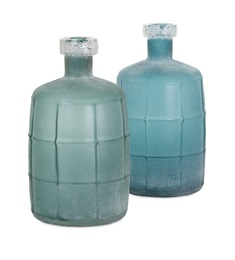 Ella Elaine Frosted Glass Jugs - Ast 2