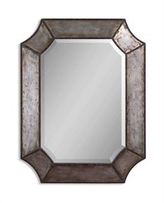 Elliot Distressed Aluminum Mirror
