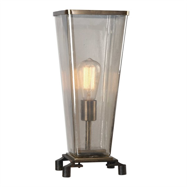 Emidio Glass Hurricane Lamp