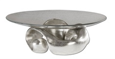 Entwined Silver Leaf & Glass Bowl