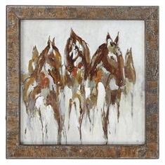 Uttermost Equestrian In Browns And Golds Abstract Art