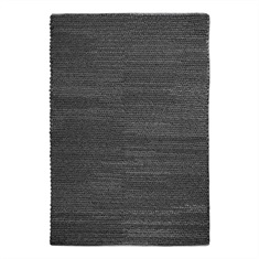 Europa Charcoal Hand Woven Rug Swatch
