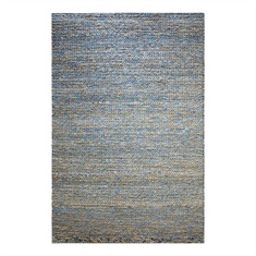 Euston Natural Blue Hand Woven Rug Swatch