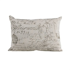 Fairfield Printed Linen Pillow