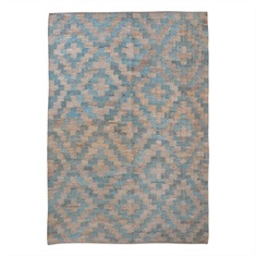 Falco Teal Birds Eye design Rug Swatch