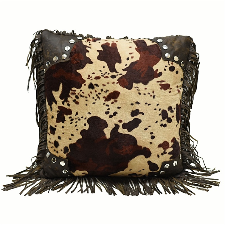 Red Rodeo  Cowhide Pillow