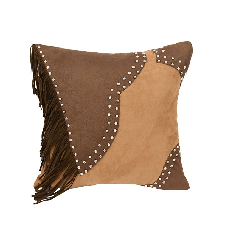 Faux Leather Pillow