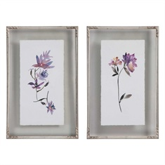 Floral Watercolors Art, S/2