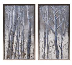 Frosted Framed Oil Painting on Metal - Ast 2