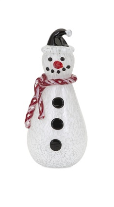 Frosty Medium Glass Snowman