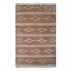 Gamba Brown Cotton Rug Swatch