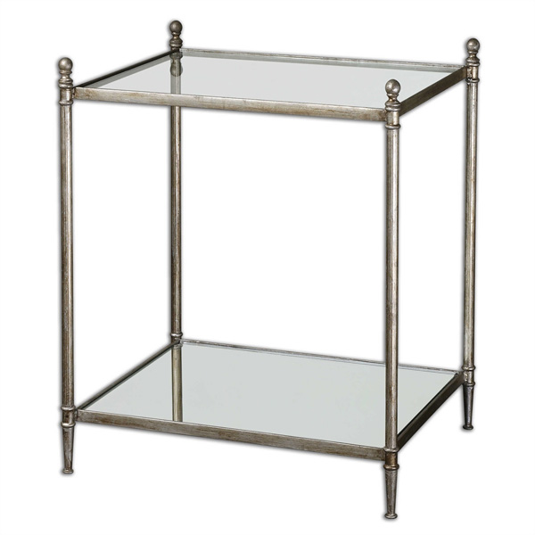 Gannon Mirrored Glass End Table