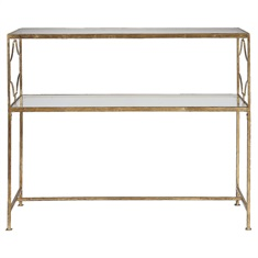 Genell Gold Iron Console Table