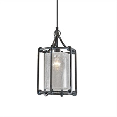 Generosa 1 Light Crackle Glass Lantern