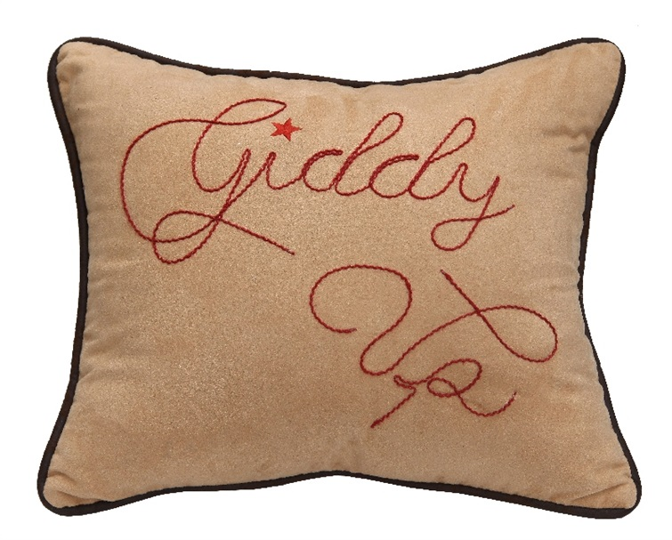 Giddy Up Embroidery Pillow