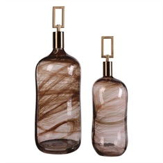 Ginevra Glass Bottles S/2