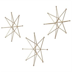 Gold Stars Wall Art, S/3