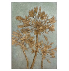 Golden Leaves Wall Art