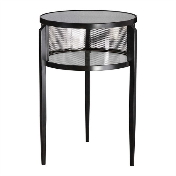 Gustav Black Iron Accent Table