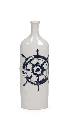 Haines Nautical Steer Vase