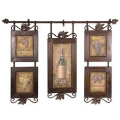 Uttermost Hanging Wine Framed Art