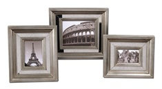Hasana Antique Silver Photo Frame Set/3