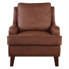 Henry Tanned Leather Arm Chair