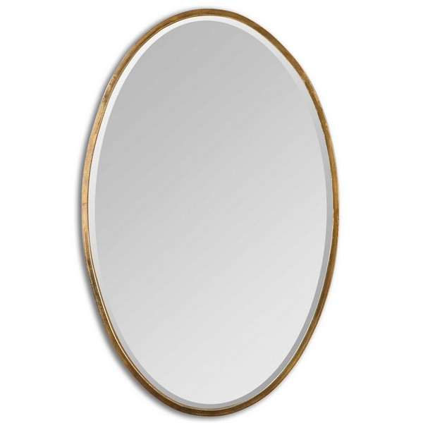Herleva Gold Oval Mirror